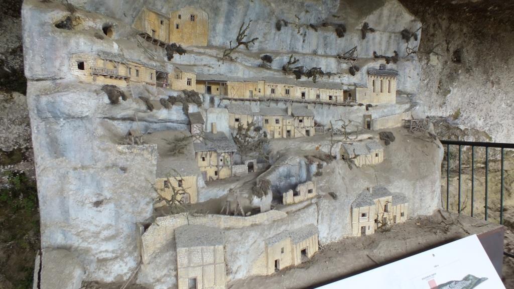 Ein Modell vom Roque Saint-Cristophe