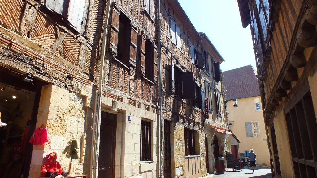 Fachwerkhäuser in Bergerac