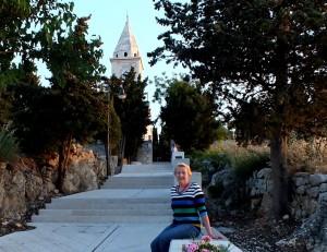 In der Abendsonne hoch oben beim Friedhof