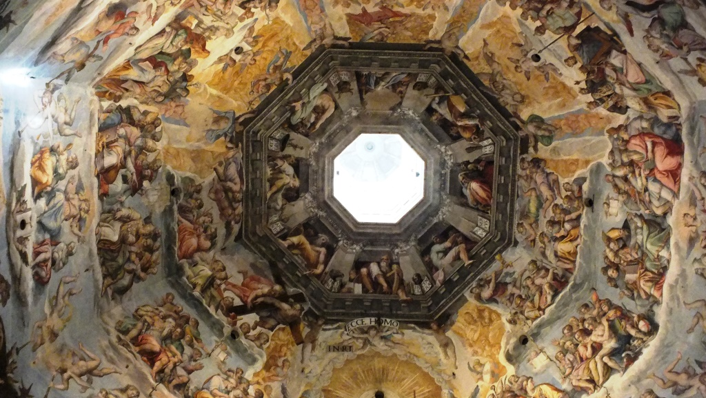 Die Kuppel des Baptisteriums